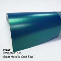 Avery Satin Metallic-Cool Teal水鴨青