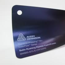 Avery-Colorflow™ Satin Rushing Riptide Cyan Purple